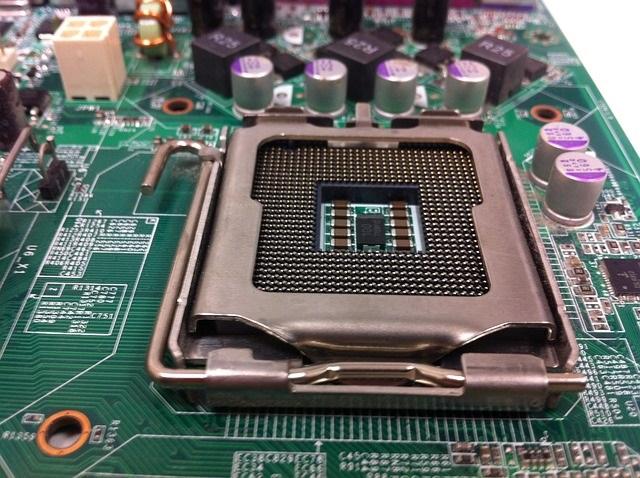 CPUのマザーボート上のソケット