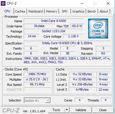 cpu-zの画面