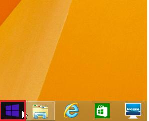 Windows8 8.1 HDD(ハードディスク)の空き容量を調べる1 スタートボタンをクリック