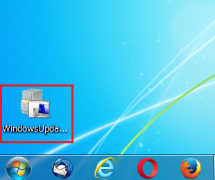 Windows7 トラブルシューティングツールを手動で行う方法3 デスクトップに保存されたWindows Update Diagnosticをダブルクリック