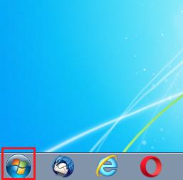 左下にあるスタートボタンを左クリック
