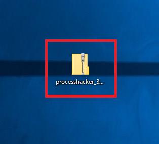 保存したprocesshacker_3.0.0.435n_jp.zipをダブルクリック