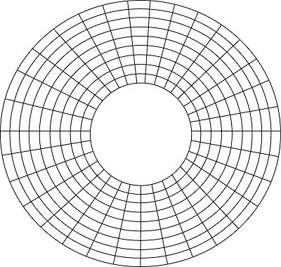 プラッタまたは磁気ディスクの図