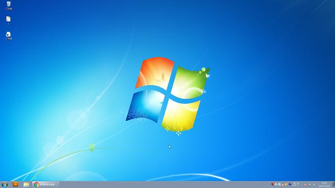 Windows7 アイコンを小さくした場合のデスクトップの画面