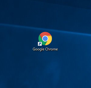 デスクトップにアプリケーションのショートカットアイコンが作成された状態