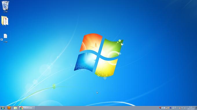 Windows7 アイコンを大きくした場合のデスクトップの画面