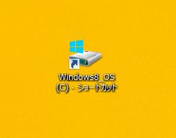 デスクトップにドライブのショートカットアイコンが作成されたか確認してみましょう。