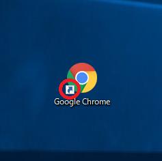 デスクトップにあるショートカットアイコン