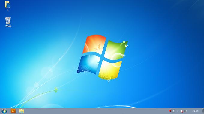 Windows7 解像度を落とさずアイコンなどを拡大したデスクトップ画面