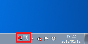 Windows7 言語バーを単体で表示している状態