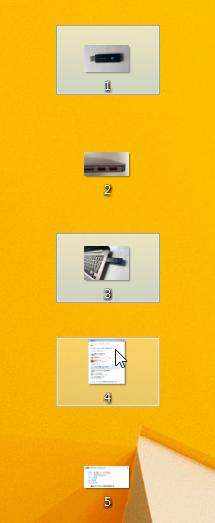 1,3,4とデータを選択することが出来ました。後は、コピーしてUSBメモリに貼り付けるだけです。