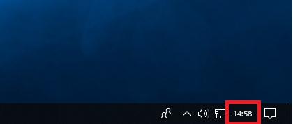 Windows10 変更後 日付