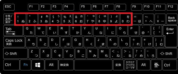 タスクバーにあるアイコンの番号はキーボードの番号に割り当てられています。