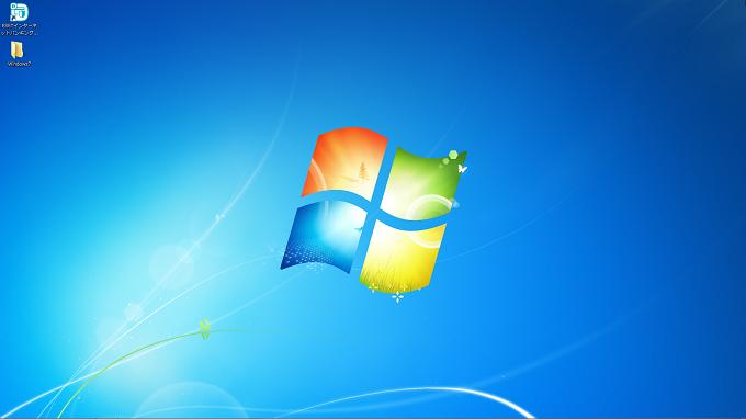 windows7 タスクバーが非表示の状態
