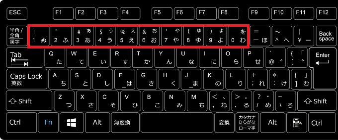 タスクバーにあるアイコンの番号は、キーボードの1~0に割り当てられます。