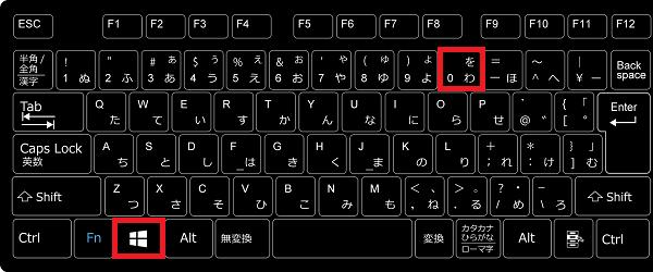 1番右端の10番の「タスクマネージャー」を起動したいのであれば、キーボードの「Windowsマーク」を押しながら「0」を押します。