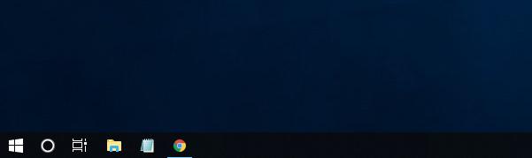 Windows10 タスクバーの幅が狭くなっている場合のアイコン
