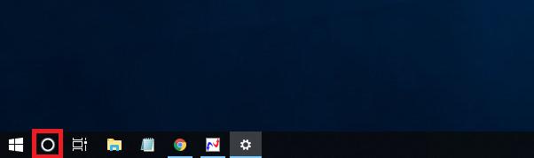 Windows10 検索ボックス(Cortana)がアイコンになる