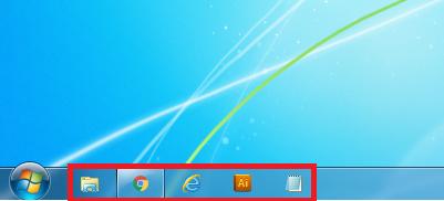 Windows7 タスクバーのアイコンが小さくなる