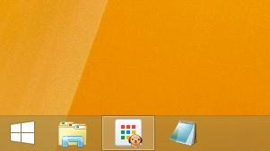 Windows8/8.1 タスクバーの幅が正常の場合のアイコン