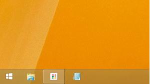 Windows8/8.1 タスクバーのアイコンを小さくした場合
