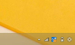 Windows8/8.1 時計を非表示にしている状態