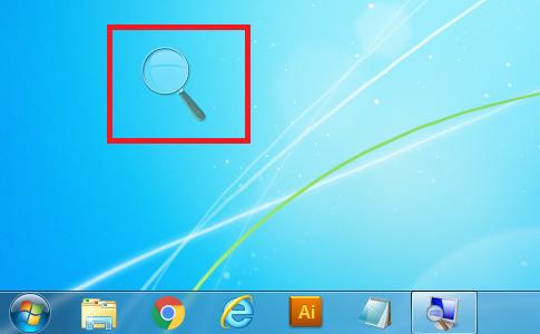 Windows7 拡大鏡の虫眼鏡