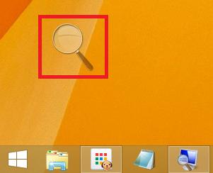 Windows8/8.1 拡大鏡の虫眼鏡