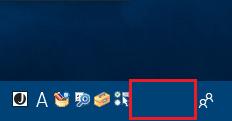 Windows10 タスクバーを青色に変更しても「CPAS」「KANA」の文字が見えない