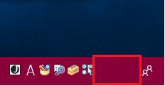Windows10 タスクバーをピンクに変更しても「CPAS」「KANA」の文字が見えない