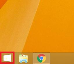 左下にある「スタート」ボタンを左クリックします。