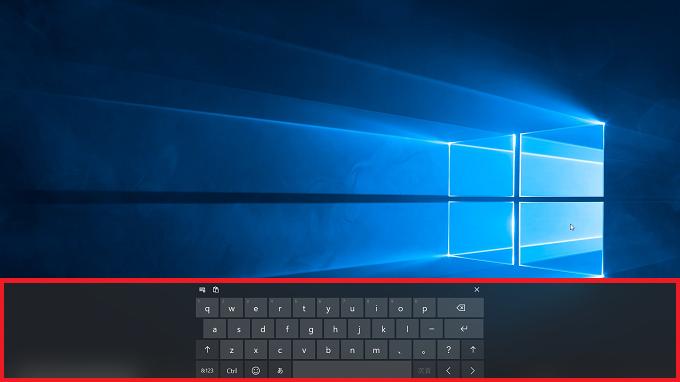 Windows10 タッチキーボード