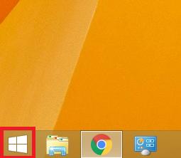 1.左下にある「①スタート」ボタンを左クリックします。