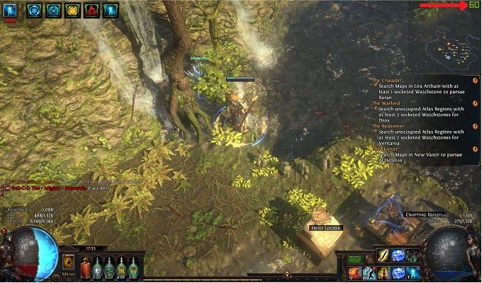 Geforce Experienceでゲーム中にFPS(フレームノート)を右上に表示させた場合
